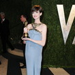 Anne Hathaway Wore Saint Laurent at the Vanity Fair Oscars Party 2013