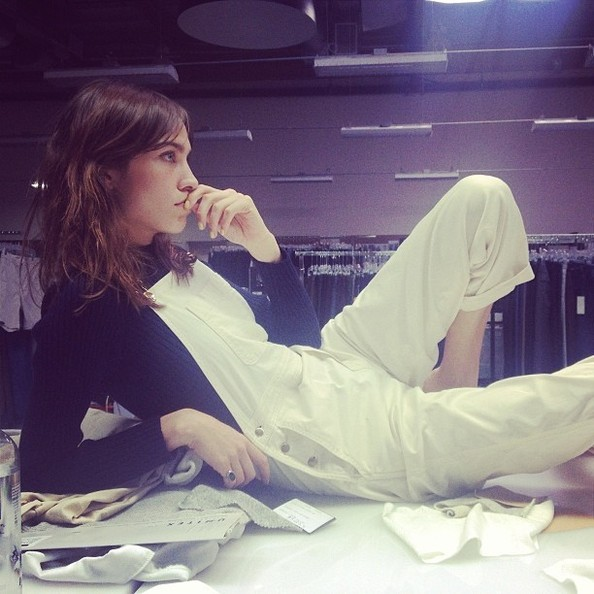 Alexa Chung Rocks the Overall Trend