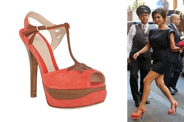 Kourtney Kardashian Keeps up in Fendi Sandals