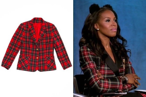A Plaid Jacket Like June Ambrose's on 'Project Runway'
