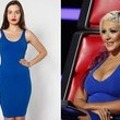 Christina Aguilera's Bright Blue Dress on 'The Voice'