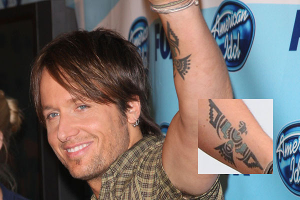 Cool Celebrity Tattoos; Keith Urban's Phoenix Tattoo