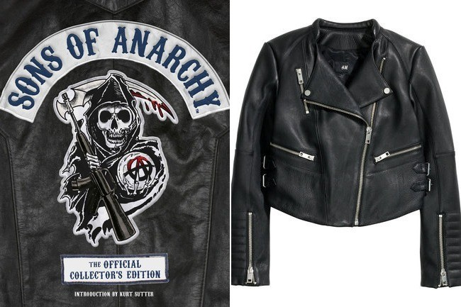 H&M Leather Biker Jacket, $299, at H&M; Source:Time Home Entertainment, H&M