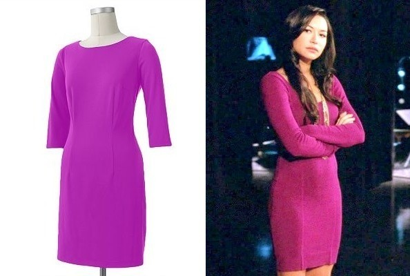 Naya Rivera's Body-Con Magenta Dress on 'Glee'