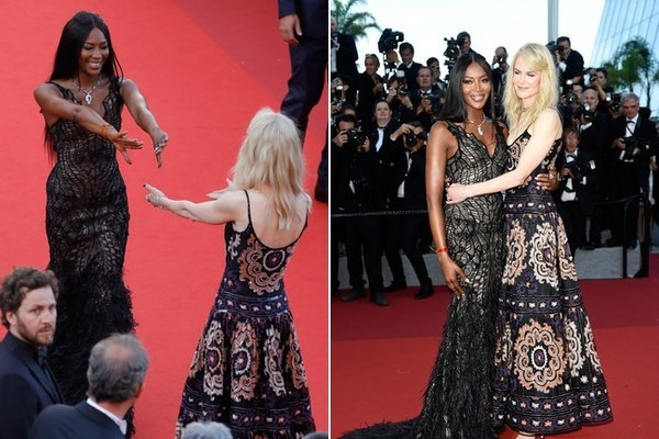 Naomi Campbell and Nicole Kidman at the 2017 Cannes Film Festival