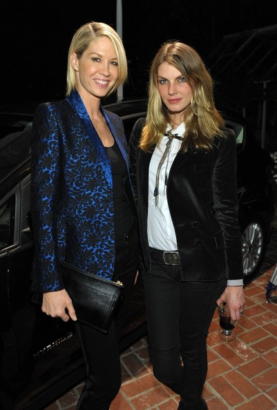 Jenna Elfman and Angela Lindvall at the Stella McCartney LA Holiday Party