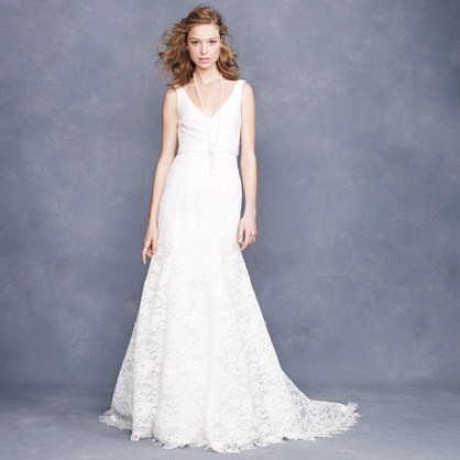 J Crew Sara Lace Gown 150 Wedding Dresses You Can Buy Online StyleBistro