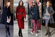 Celebrities Keep Cozy in Chic Coats