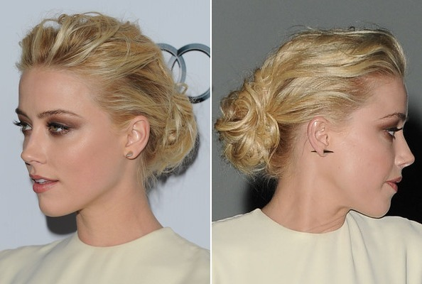 Amber Heard's Teased and Tousled Updo