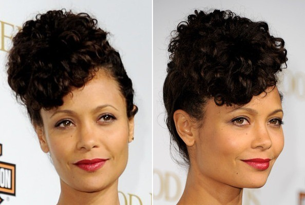 Thandie newtons curly retro inspired do do it yourself how to do it yourself how to get hollywoods best hairstyles at home solutioingenieria Gallery