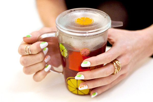 Sips and Tips: Sunny Citrus Sunshine and The Tropical Slice Mani