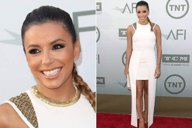 Eva Longoria's High-Low Gown