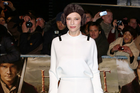 Cate Blanchett Channels Princess Leia
