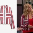 Melissa Joan Hart's Frayed Striped Jacket on 'Melissa & Joey'