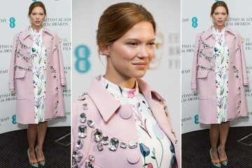 We're in LOVE With Lea Seydoux's Heavily Embellished Coat