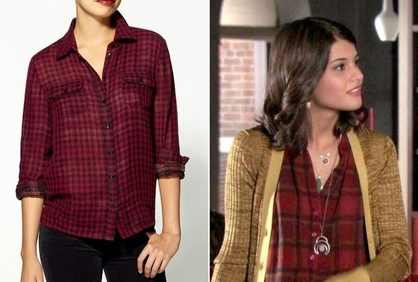 Sofia Black-D'Elia's Plaid Shirt on 'Gossip Girl'