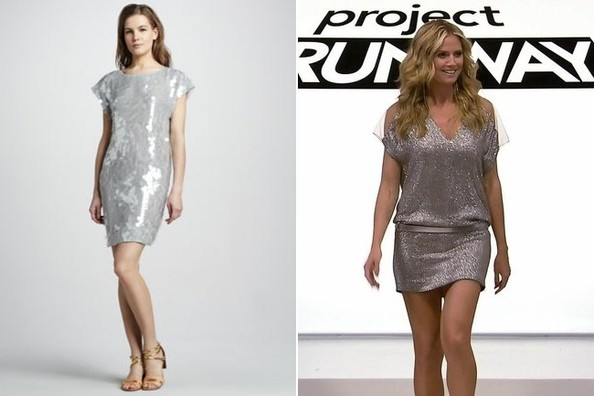 A Sparkly Silver Mini Dress Like Heidi Klum's on 'Project Runway'