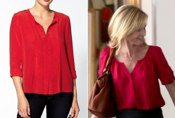 Julie Bowen's Red Blouse on 'Modern Family'