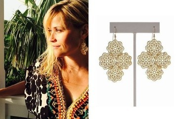 Found: Reese Witherspoon's Gold Filigree Earrings