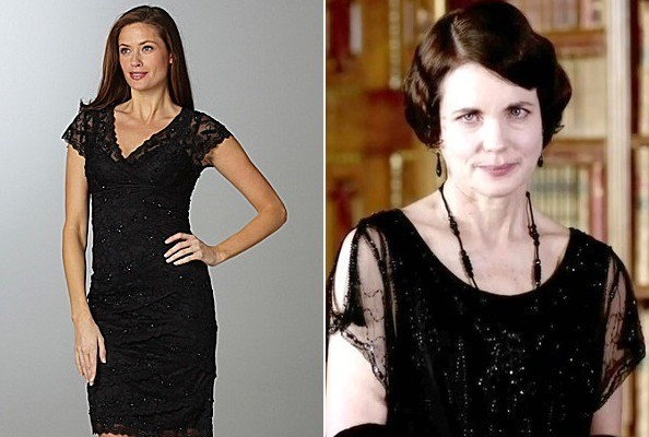 Elizabeth McGovern's Beaded Lace Top on 'Downton Abbey'