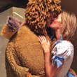 Gisele Bündchen and Tom Brady as Dorothy and the Cowardly Lion