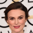 Keira Knightley's Rolled Updo and Dusty Eyeshadow