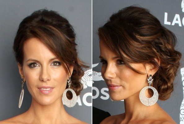 Kate Beckinsale's Side-Swept Updo