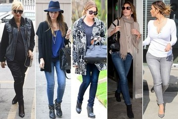 Muted Hues, Blue Jeans and Black Accessories Ruled