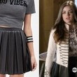 Lucy Hale's Black Leather Pleated Skirt on 'Pretty Little Liars'