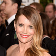 Leslie Mann's Side Sweep and Cherry Red Lip