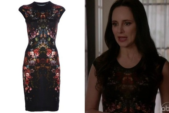 Madeleine Stowe's Tapestry-Printed Dress on 'Revenge'