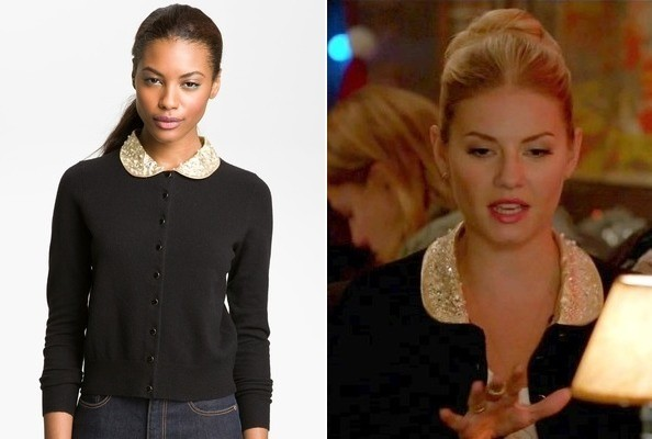 Elisha Cuthbert's Peter Pan Cardigan on 'Happy Endings'