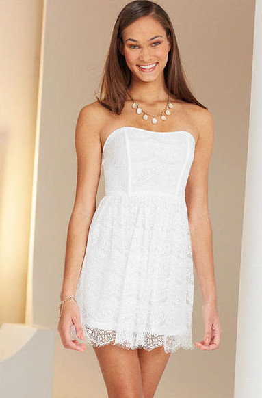 The sweetest Little White Dress