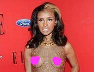 Ex-Pussycat Doll Melody Thornton Bares Her Bust at 'Elle' Women in Music Event