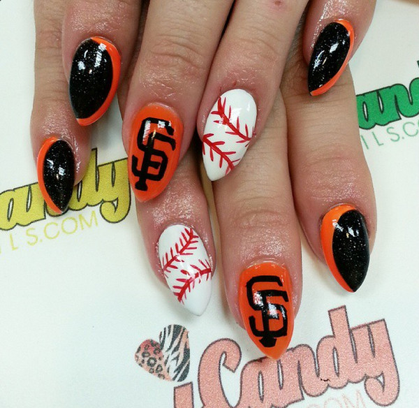 Here Are 10 Cute Baseball Nail Art Ideas - Happy Opening Day! Here Are 10 Cute Baseball Nail Art Ideas - Nails