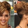 Jessica Alba's Voluminous Curly Updo