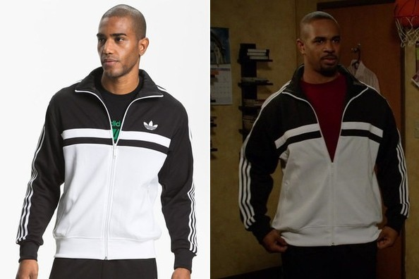Damon Wayans Jr.'s Black and White Track Jacket on 'New Girl'