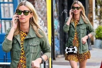 Look of the Day: Nicky Hilton's Laid-Back Leopard-Print Dress