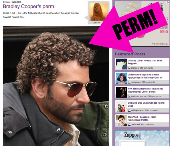 Bradley Cooper Wasn't Lying, He Really DID Get a Perm!