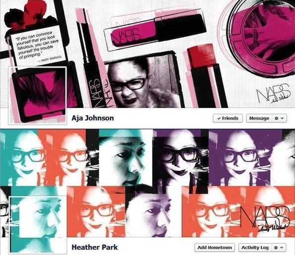 Super-Cool Facebook App Alert: Nars' Andy Warhol Profile Pic Makeover