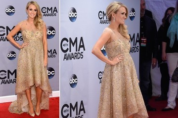 Carrie Underwood's Maternity Style at the 2014 CMA Awards