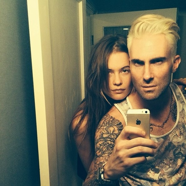 Adam Levine Goes Blonde