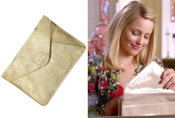 A Gold Envelope Clutch Like Dianna Agron's on 'Glee'