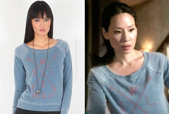 Lucy Liu's Sweatshirt on 'Elementary'