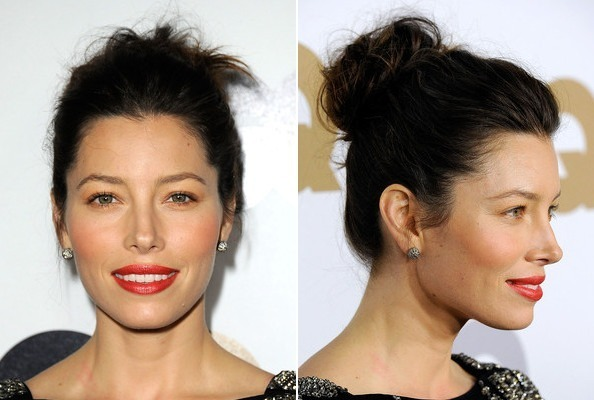 Jessica Biel's Cute and Casual Coif