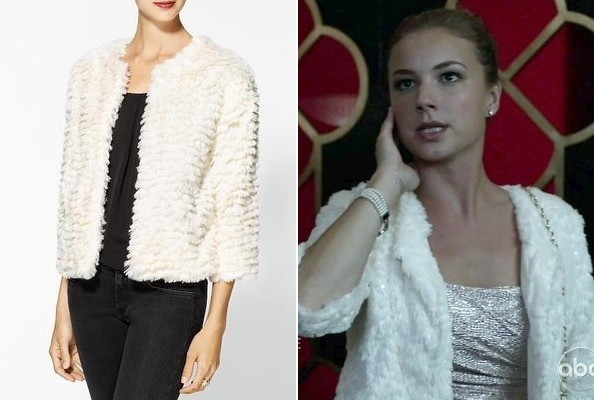 Emily VanCamp's Faux Fur Jacket on 'Revenge'