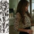 Ashley Madekwe's Sheer Tiger Print Blouse on 'Revenge'