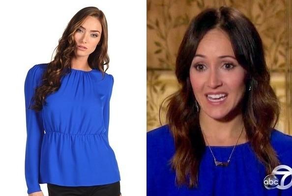 Ashley Hebert's Blue Top on 'The Bachelorette'