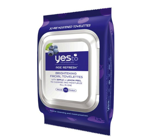 Yes to Blueberries Facial Towelettes, $8