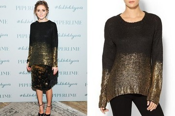 Found: Olivia Palermo's Gold Sequin Sweater